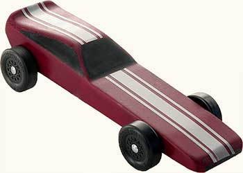 Example of a completed Awana Funnycar