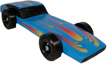 Example of a completed Awana Stingray car