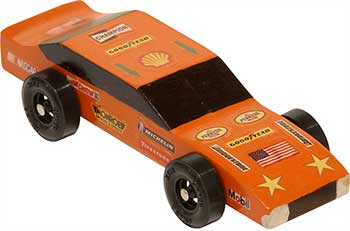 Example of a completed Awana Stock Car