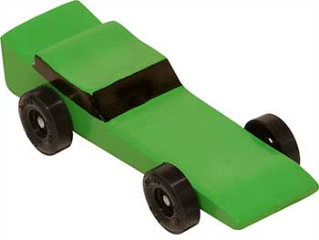 Completed Awana Vampire car with green paint