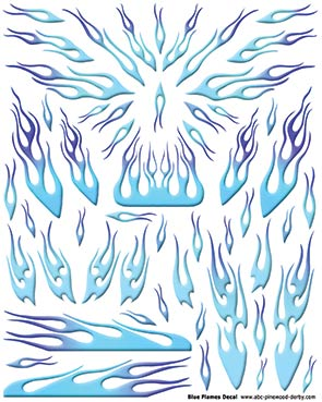 Blue Flames Decal