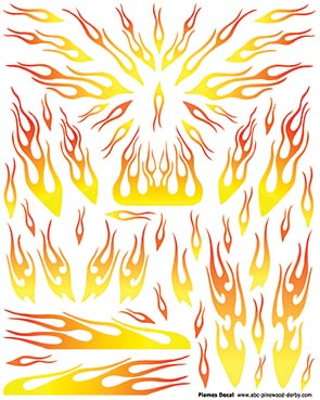 Yellow Flames Decal