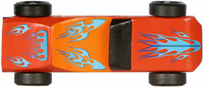 Example of Blue Flame Decal